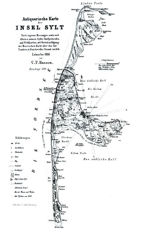 Karte Von Sylt.Historische Karte Der Insel Sylt Image For 32 2 23 Qu Syltkarte De Jpg